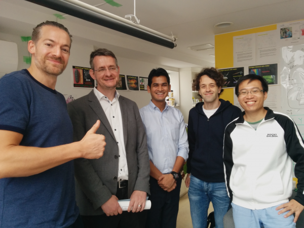 From left the LP-RESEARCH team with Siemens: Klaus Petersen (Co-founder & CEO), Helmut Wenisch (Head of Corporate Technology at Siemens K. K.), Alok Kumar Dubey (Siemens K. K.), Tobias Schlueter (Head of Research), and Lin Zhuohua (Co-founder & CFO)
